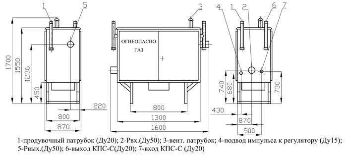 ГРПШ-03М-2У1 с регулятором РДСК-50М