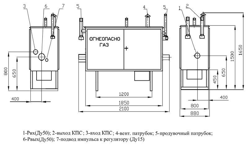 ГРПШ-04-2У1 с регулятором РДНК-400