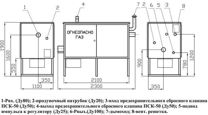 ГРПШ-13-1Н(В)-У1 с регулятором РДГ-50Н / РДГ-50В.